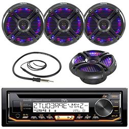 New JVC KD-R85MBS Marine Boat Motorcycle CD/MP3 Bluetooth St