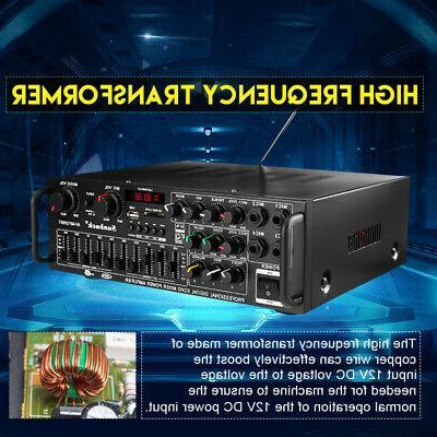 110V bluetooth Home Amplifier Powered Equalizer Receiver 0