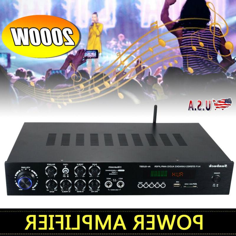 1120w 110v 5ch bluetooth home stereo amplifier