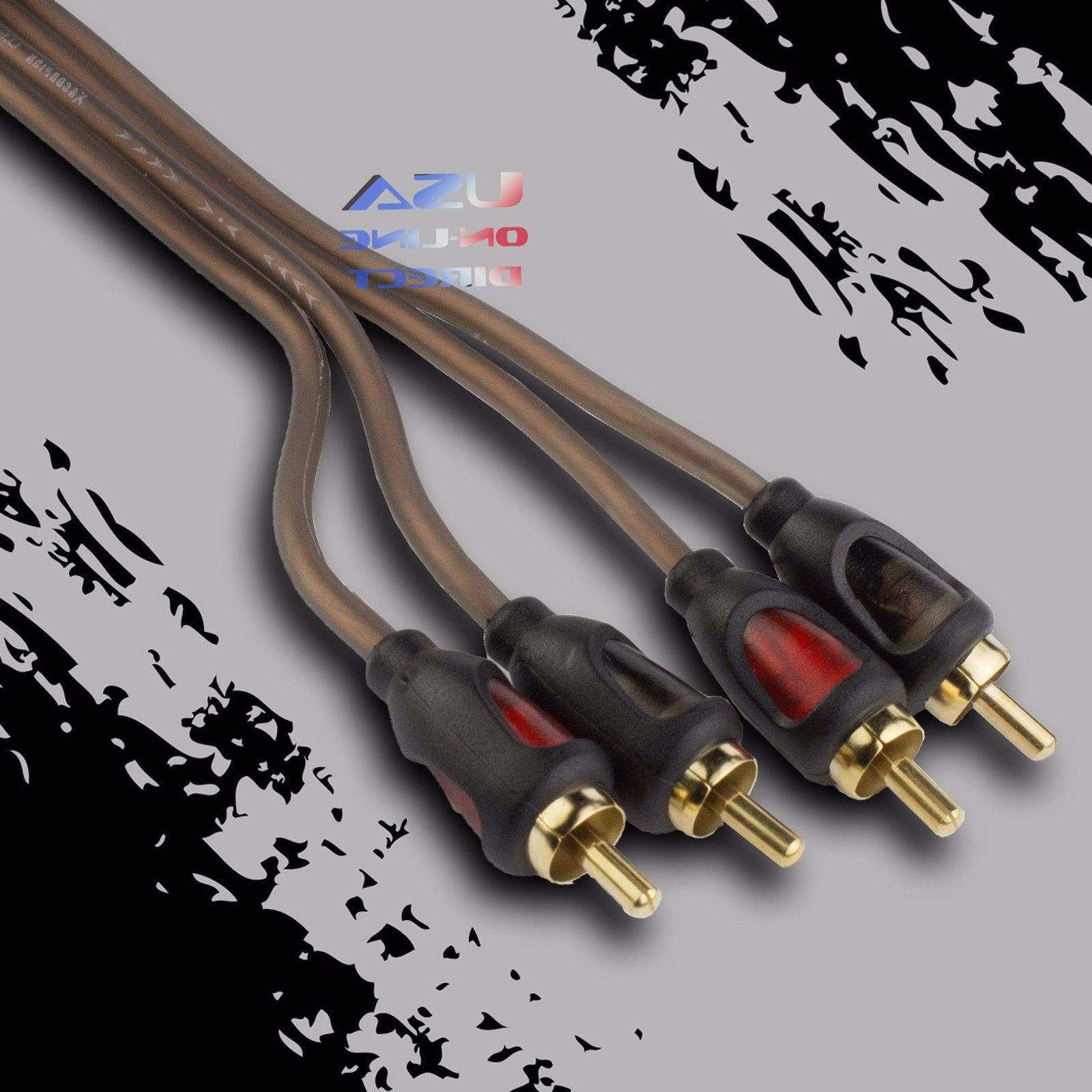 15FT CAR STEREO AUDIO RCA INTERCONNECT COPPER ULTRA FLEXIBLE