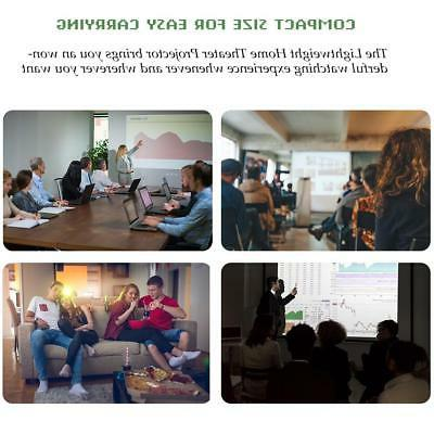 Portable HD Home Theater Projector Screen Projector