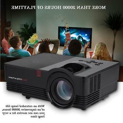 1920*1080P Stereo Home Theater Projector 100-240V AV VGA