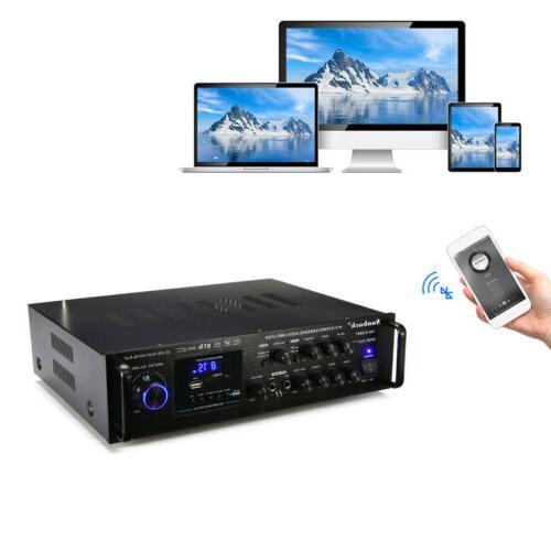 2 Channel 2000Watt 4.0 Power Amplifier USB