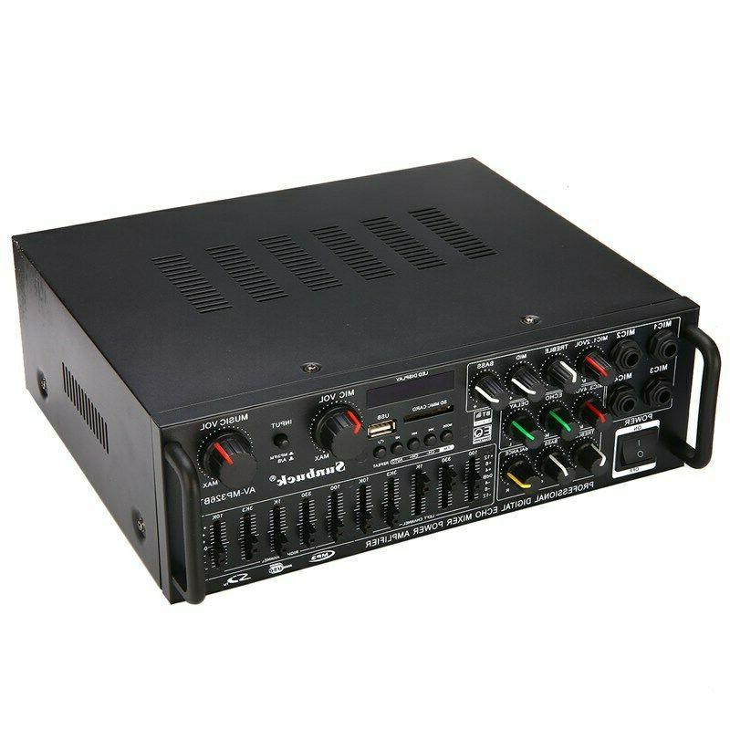 800W Bluetooth Amplifier Powered Equalizer EQ