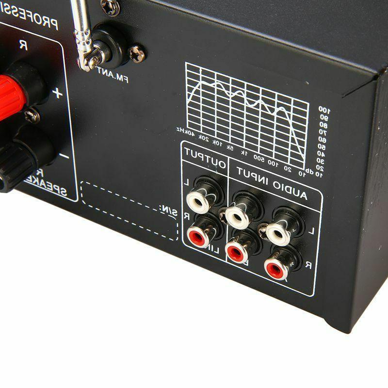 800W 110V Bluetooth Home Amplifier Powered Equalizer
