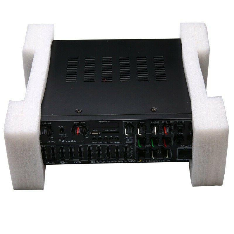 Bluetooth Stereo Amplifier Powered Equalizer EQ Karaoke