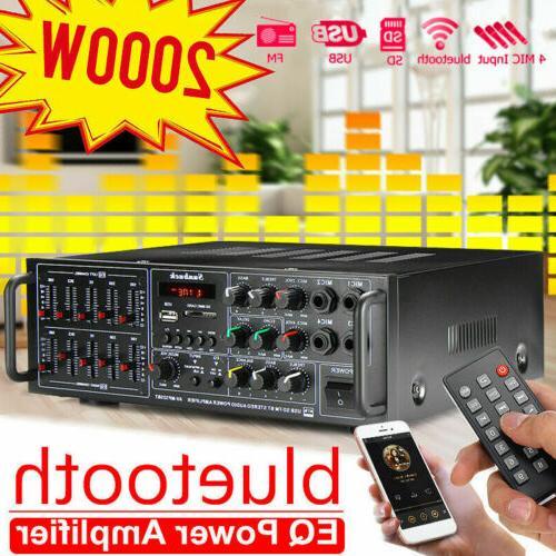 2000W 110V 2Ch Home Equalizer