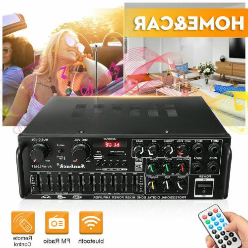 2000W Home Stereo Powered Equalizer EQ Receiver
