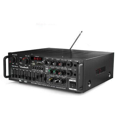 2000W Home Stereo Equalizer EQ Receiver SD