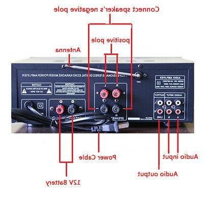 2000W Home Stereo Equalizer EQ Receiver