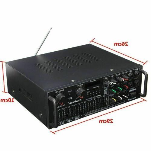 2000W 110V Home Stereo Amplifier Equalizer Receiver SD