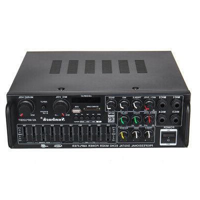 2000W 110V 2Ch Home Amplifier Equalizer Receiver