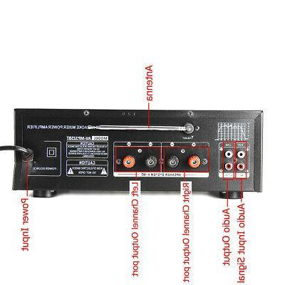 325BT Stereo Power Amplifier Home Audio 2Ch AMP FM