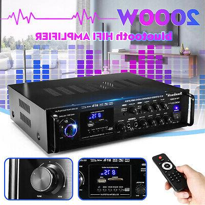 2000w 110v 5ch bluetooth home stereo amplifier