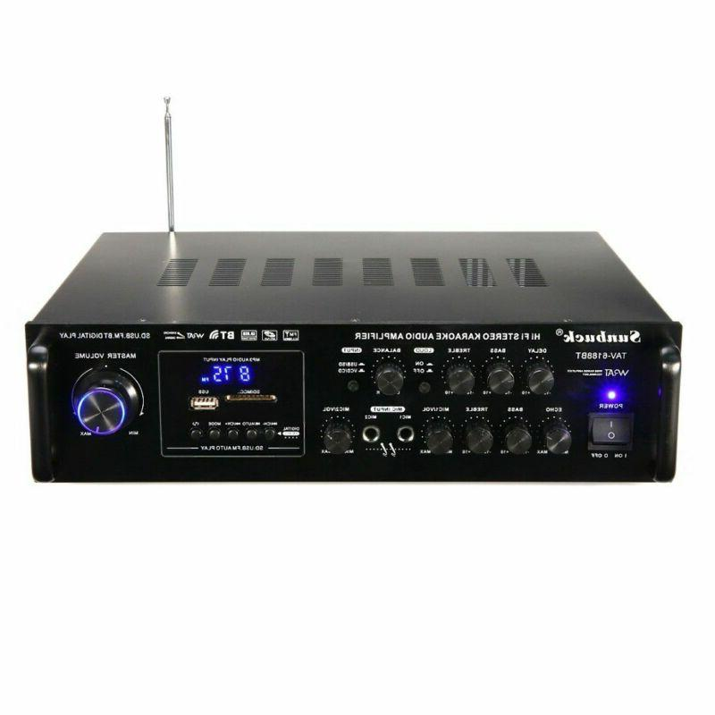 2000W HIFI bluetooth AMP Audio Mic Car Home