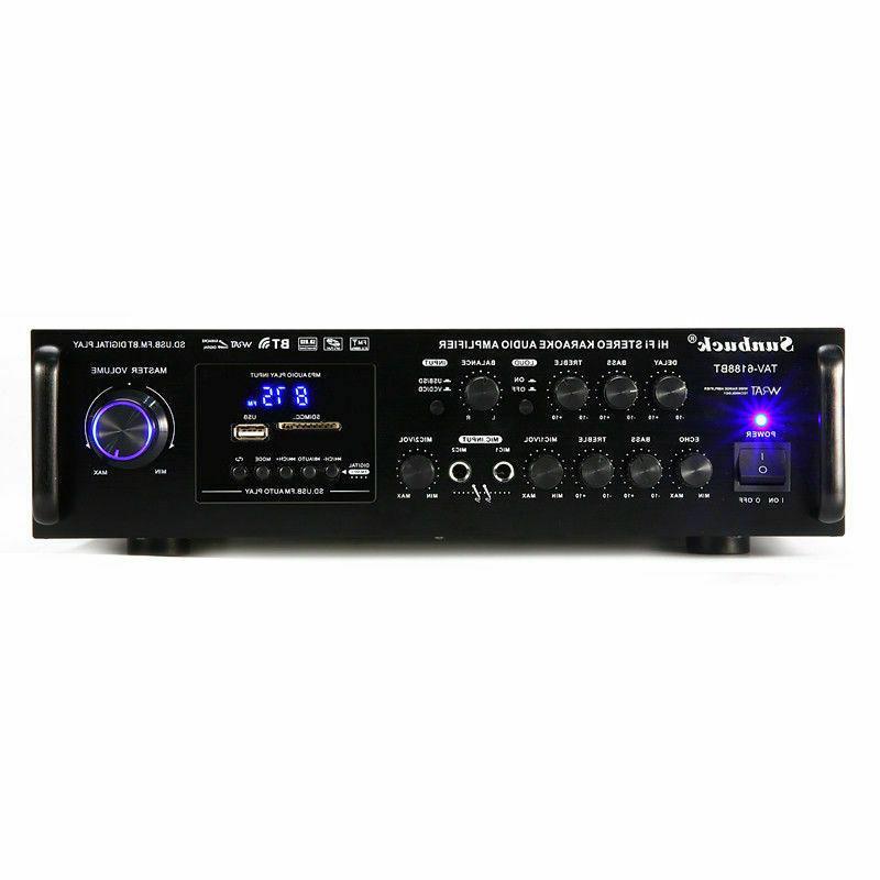 2000W 2CH Digital Stereo Audio FM Mic Car Home
