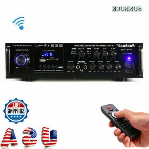 2000w 110v 5ch digital amplifier hifi bluetooth