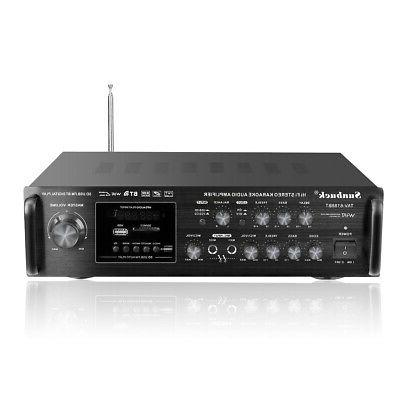 bluetooth 2Channel Home Stereo Power Mix System FM AMP
