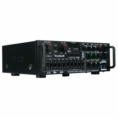 2000W EQ Bluetooth Amplifier USB FM