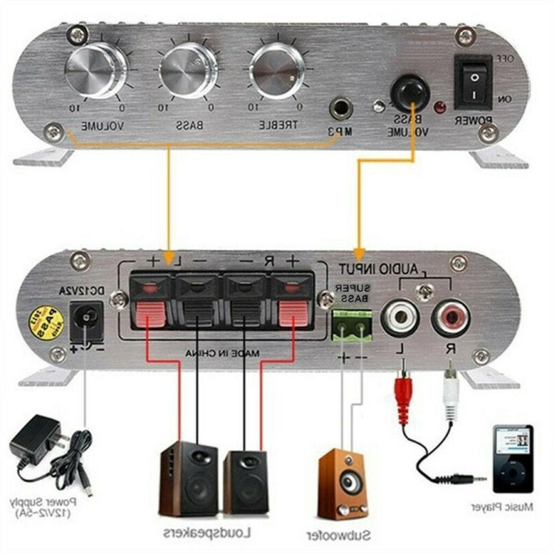 200W Hi-Fi MP3 Player FM Home Car