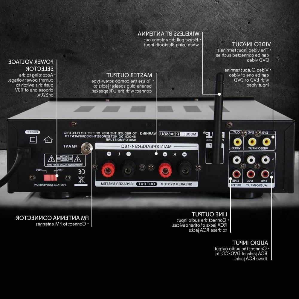 200W BLUETOOTH STEREO AMP
