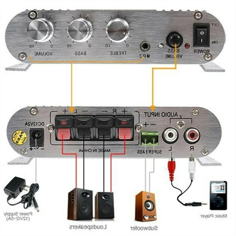 Hifi CD MP3 Radio Car Home Audio Stereo Bass Speaker Amplifi