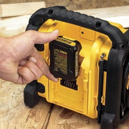 DEWALT 20V Radio, Compact Black,10.10in.