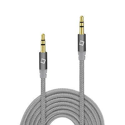 3.5mm Anti-Tangle Braided Aux Audio Cable Headphones Home an