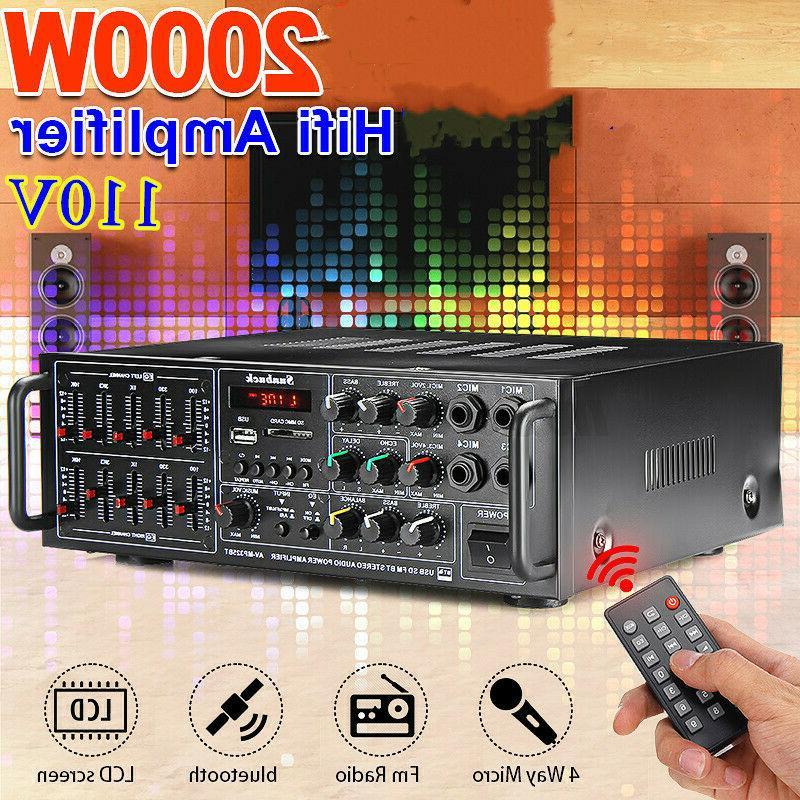 Sunbuck 325BT bluetooth Stereo AMP EQ Home FM