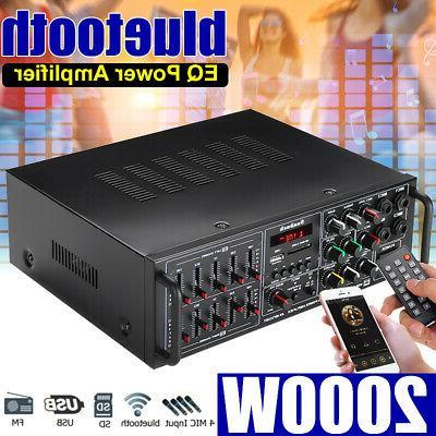 Sunbuck Power Amplifier 2Ch AMP EQ Stereo SD USB