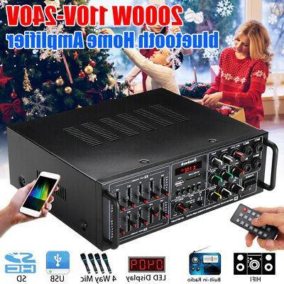 325bt 2000w bluetooth power amplifier 2ch amp
