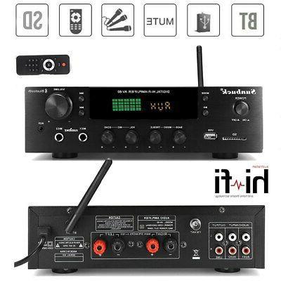4000W HiFi 5.0 Power Stereo Audio SD AMP