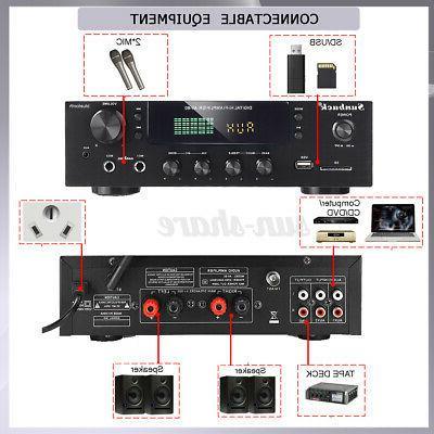 4000W HiFi bluetooth Power Amplifier Home Audio SD