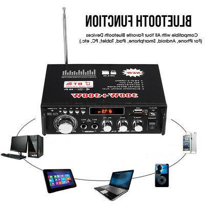 600W Car Home 2CH bluetooth Amplifier Audio c