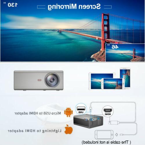 720P Home Projector Lumen 1080p HDMI LED