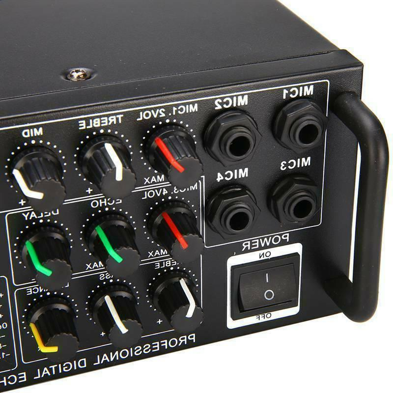 800W 110V 2Ch Bluetooth Home Equalizer EQ Karaoke