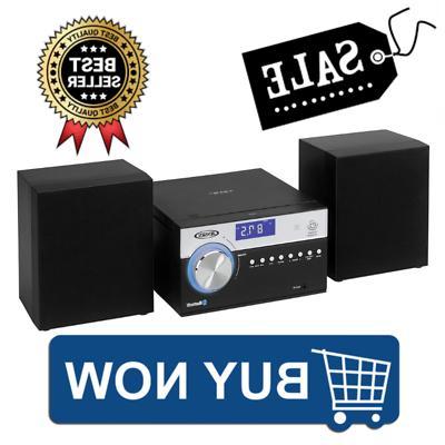 Jensen Modern Black Series JBS-200B Bluetooth CD Music Syste