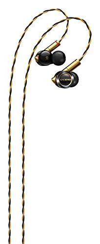 Onkyo - In-ear Headphones - Black/gold