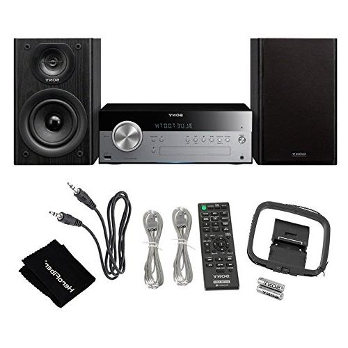 Sony All Stylish Micro System with NFC , Bluetooth, CD player & tuner + Auxiliary Cable Cloth