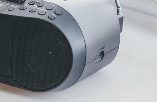 Tuner Radio, Headphone Output 3.5mm Audio Auxiliary with AC Power Lens