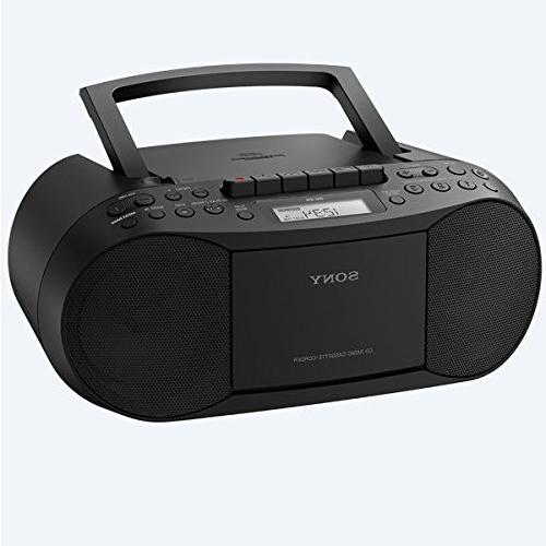 Sony CD/Cassette Tuner AM/FM Radio, Output & Audio Auxiliary Bundle with AC Lens