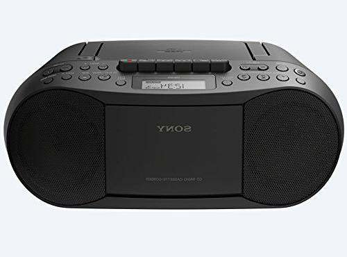 Sony CD/Cassette Boombox, Digital Tuner Headphone Output & 3.5mm Audio Auxiliary Bundle Power Cord and Lens