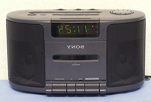 Sony Dream Machine Dual Alarm Clock Radio Cassette Tape Play