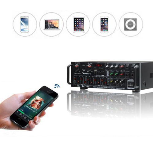 800W Amplifier Home Bluetooth Stereo 2CH EQ Karaoke USB AV P