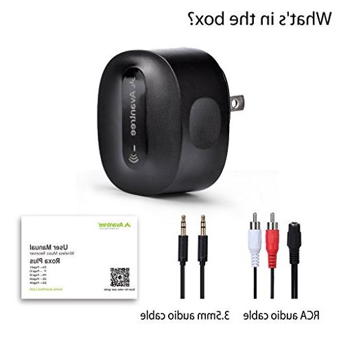 Avantree aptX Bluetooth for Home Stereo Plug, for Speaker Compatible Echo , 3.5mm Audio Music Roxa Plus