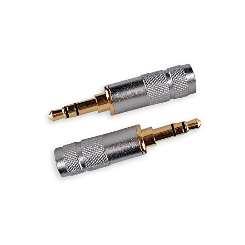 HTTX 3.5mm Audio Stereo Male Soldering Replacement TRS Headphone Gold