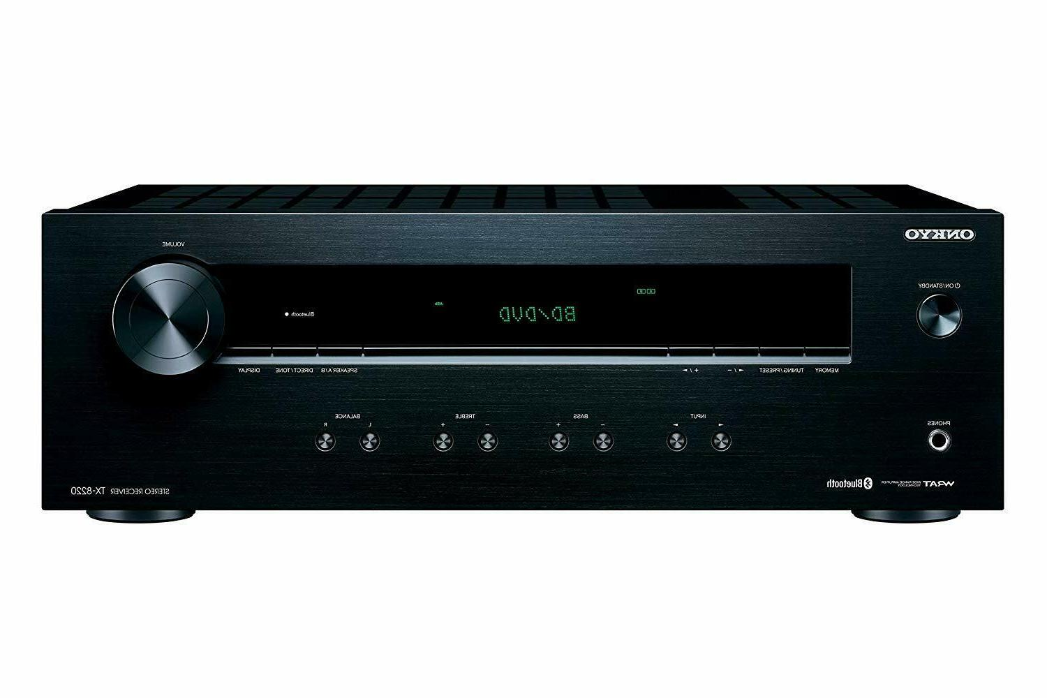 ONKYO BLUETOTH 100W HOME SPEAKERS SUBWOOFER STEREO RECEIVER