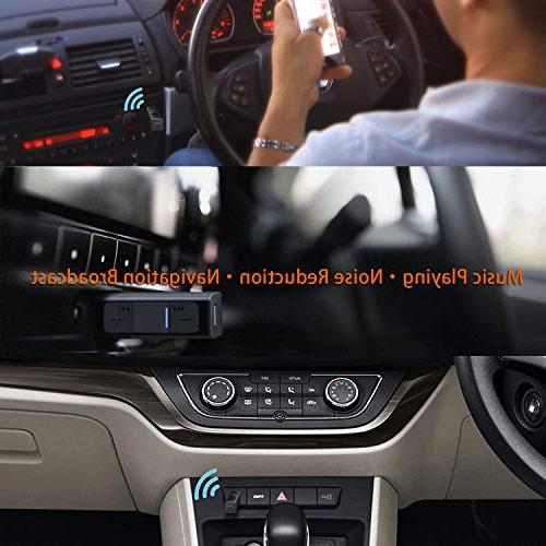 Bluetooth Adapter for Car, Aux Bluetooth Receiver with Clip for Headphones, Bluetooth Connector Converter Headset Home
