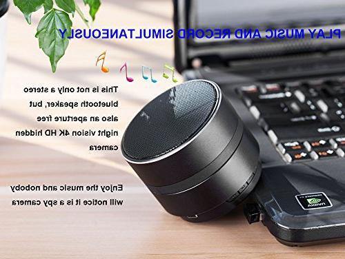 JLRKENG Bluetooth Spy Hidden Camera HD WiFi Night Wireless Stereo Detection View Monitoring Nanny Home Office