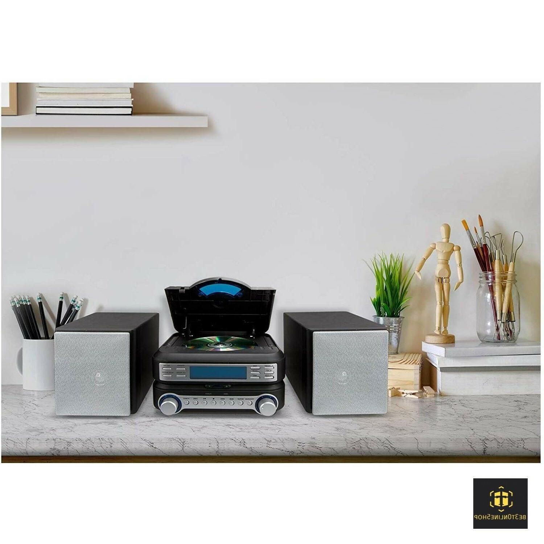 Bookshelf Player Stereo System Home AM FM Compact